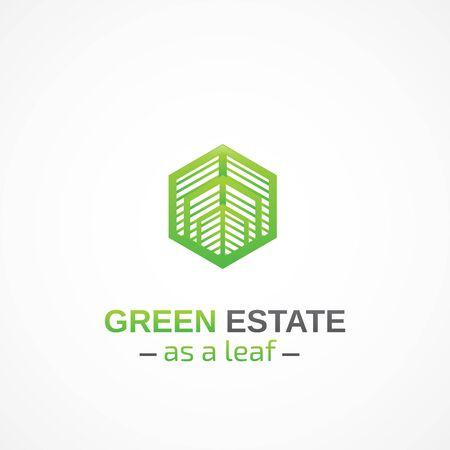estate: Green Estate. Illustration