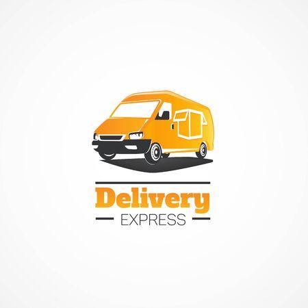 car: Delivery Car. Illustration