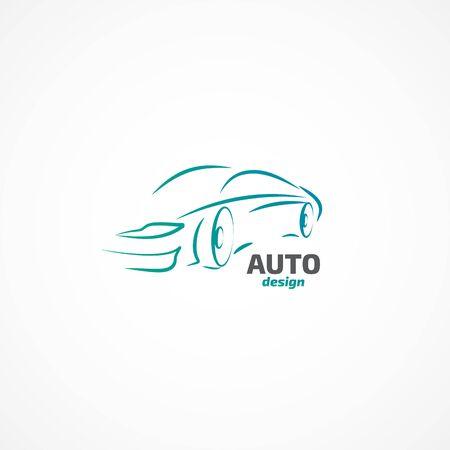 coupe: Auto Design. Illustration