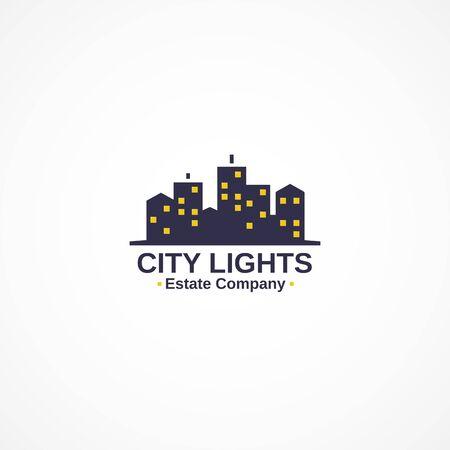 estate: Real estate agency logo. Illustration