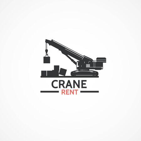 Crane logo. Stock Vector - 66463416