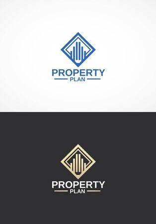 real estate agency: Real estate agency logo. Illustration