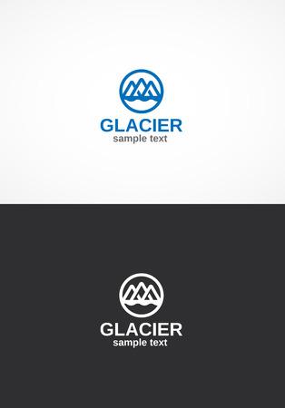 mountaintop: Glacier logo.