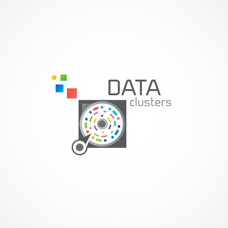 clusters: Data Clusters logo. Illustration