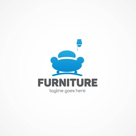 pouffe: Furniture Logo.