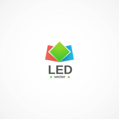 led lighting: Led lightning logo.