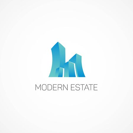 modern: Modern Estate. Illustration