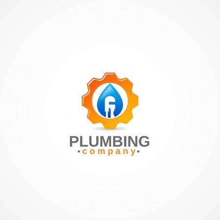 Plumbing work logo.