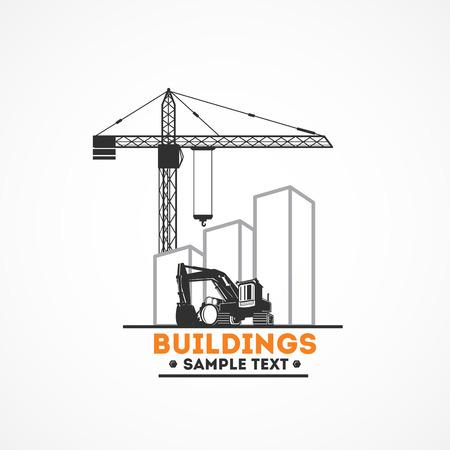 crane bucket: Buildings, Excavator and Crane.