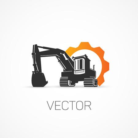 Excavator. Illustration