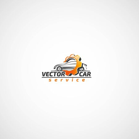 Car and gear logo. Иллюстрация