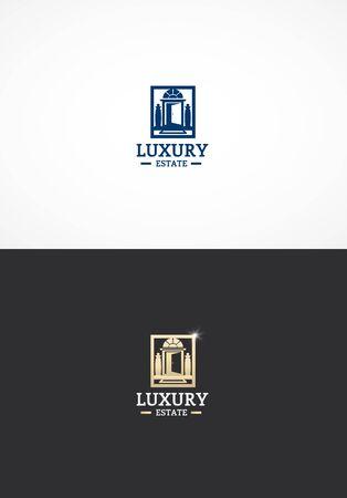 luxo: Logotipo da propriedade de luxo.