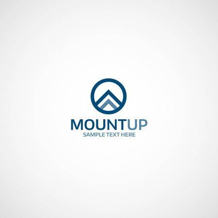 mountaintop: Mountain Up logo. Illustration