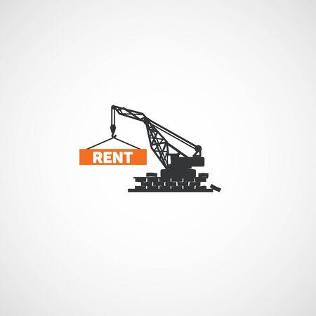 Building crane logo. 向量圖像