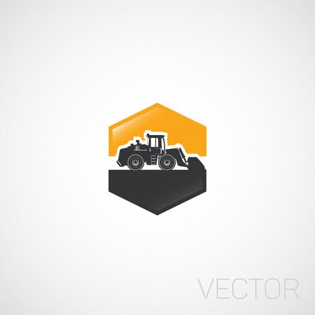 loader: Heavy machine, Loader. Illustration