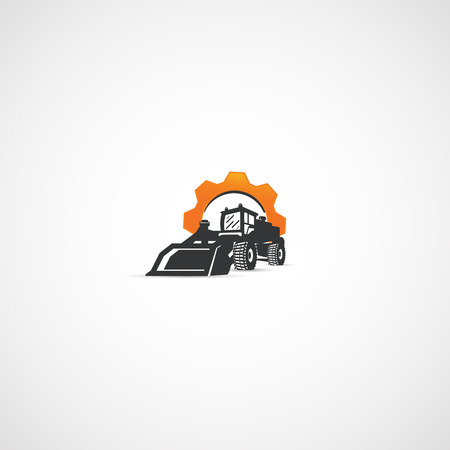 quarry: Heavy Equipment, Loader and Gear logo.