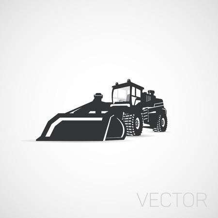 建設機器トラクター アイコン、分離されました。