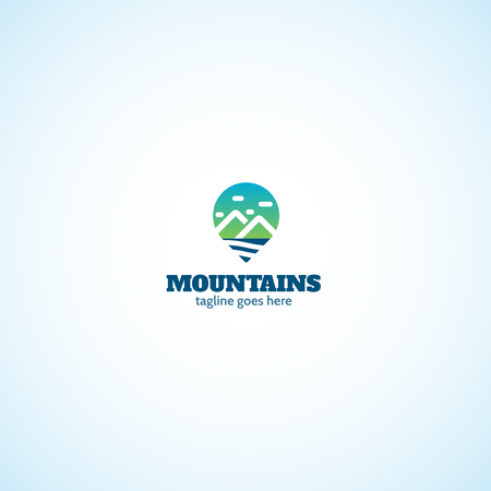 Mountains Spot logo. Ilustrace