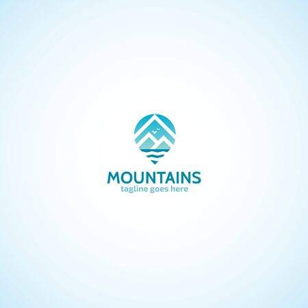 Mountains Geo Tag logo.