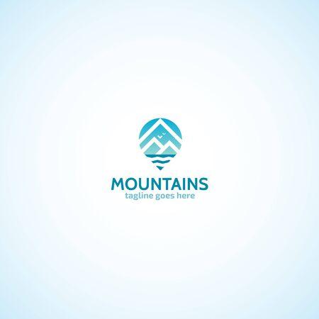 geo: Mountains Geo Tag logo.