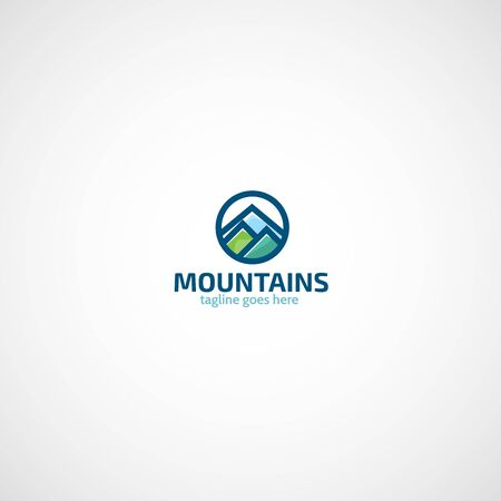 Mountains logo vector.