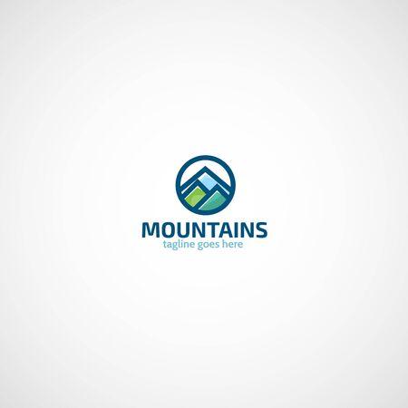 mountaintop: Mountains logo vector.