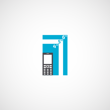 Display of the phone is diagonal infographics.
