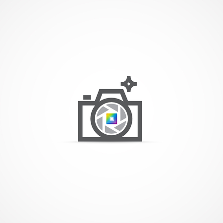 Camera logo illustration..