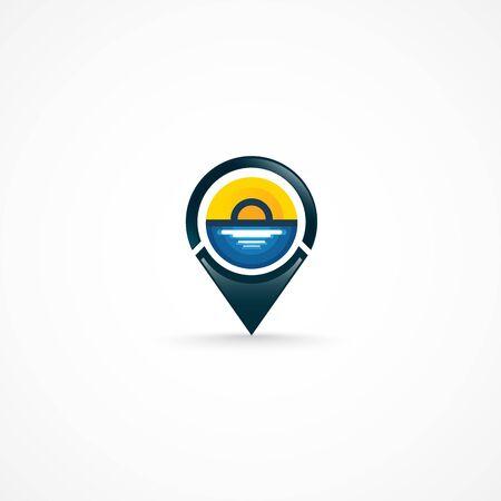 Geo Tag, logo. Illusztráció