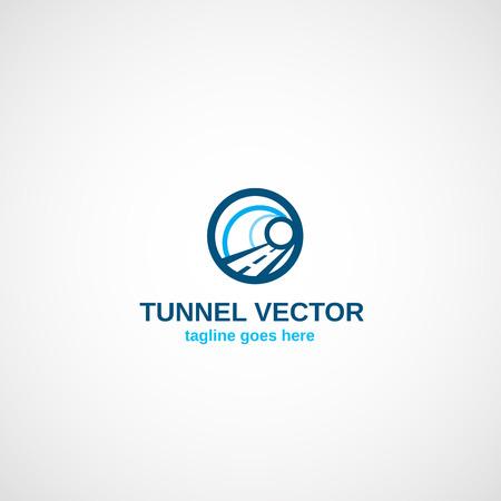교통 터널 로고.