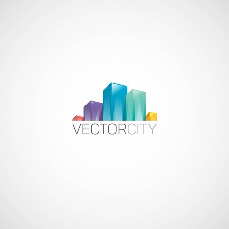 Real Estate in City logo. Illustration