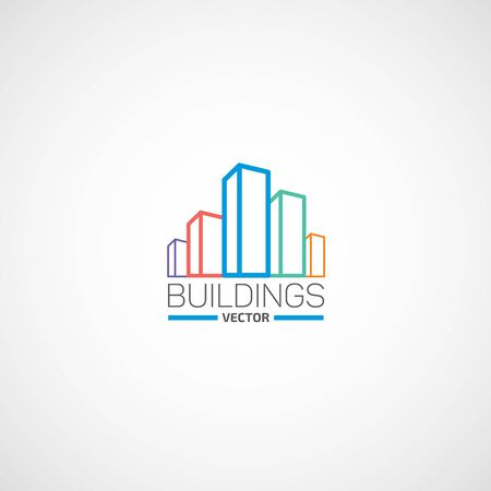 Buildings vector logo. Illustration