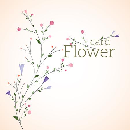 꽃, 인사말 카드입니다.