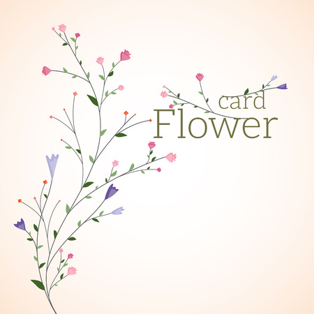 Flowers, Greeting card.