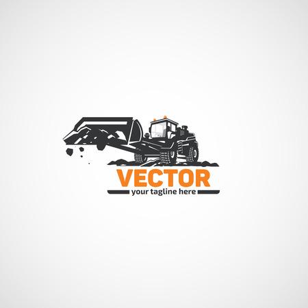Construction loader with bucket. Illustration