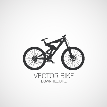 Downhill bike. Vector illustration.