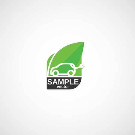 Ecological clean Transport, Green Car logo.