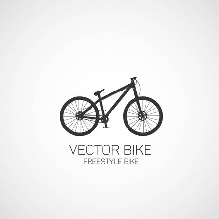 Freestyle bike. Vector illustration.