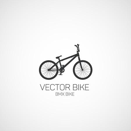 프리 스타일, BMX 자전거. 벡터 일러스트 레이 션.