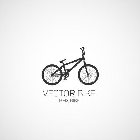 Freestyle, BMX bike. Vector illustration.
