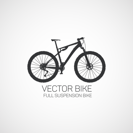 Full suspension Mountain bike. Vector illustration.
