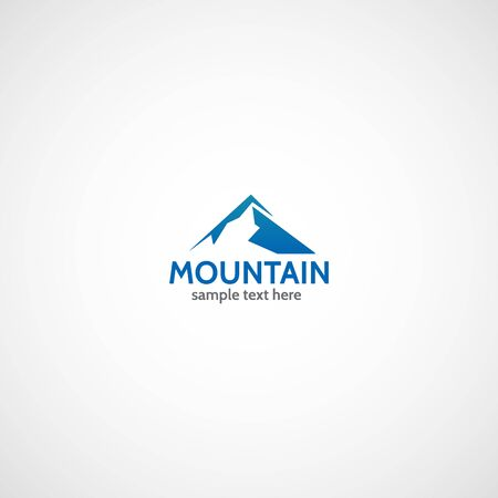 Mountain logo. Vector illustration. Illustration