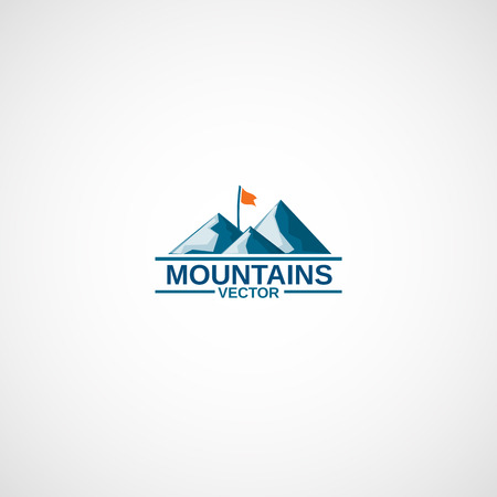 Mountains Camping logo. Ilustrace