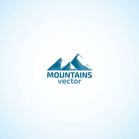 Mountains and snow logo.