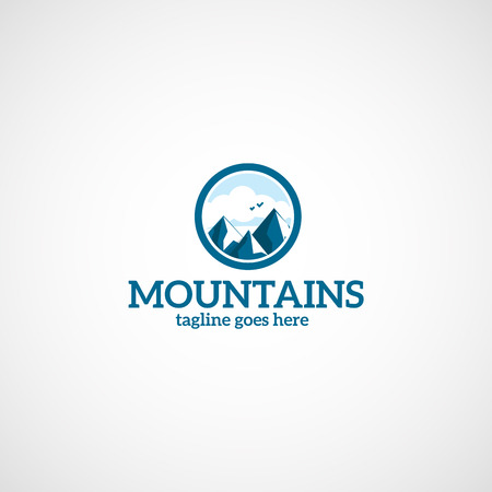 Mountains vector logo.