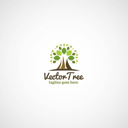 Green Decorative Tree. Vector illustration. Ilustrace