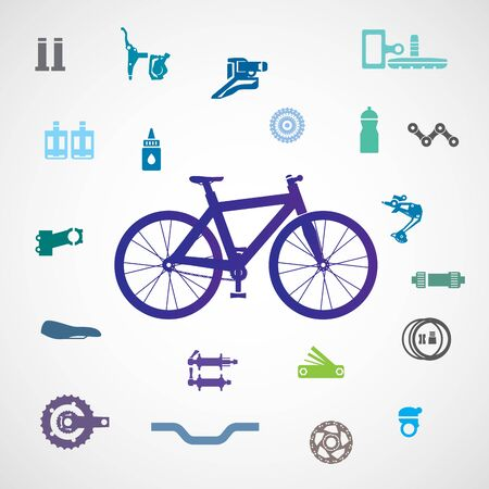 Vector bicycle, parts and accessories.