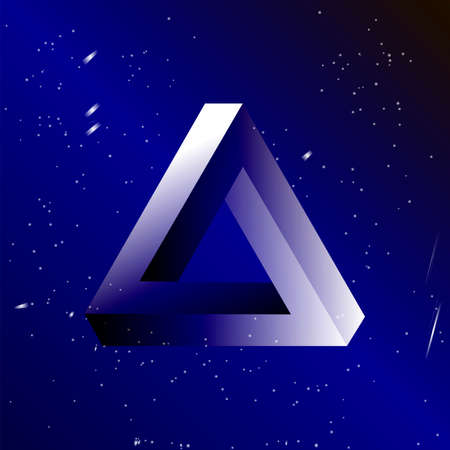 escher: Triangle simple illusion vector background