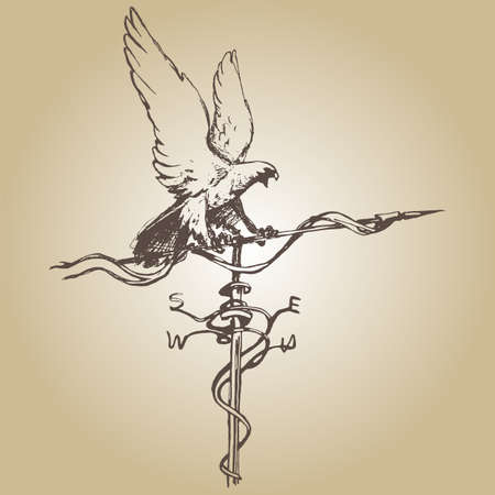 Paleta de tiempo drenaje de la mano ilustración vectorial boceto