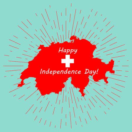 schweiz: Map of Switzerland, Swiss Confederation Illustration